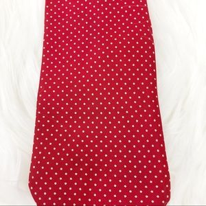 Dior Accessories - Dior Silk Tie Red and Tan Polka Dot